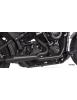 POT D'ÉCHAPPEMENT TWO BROTHERS RACING 2-EN-1 Finition noire céramique avec sortie fibre de carbone pour Softail 2018 au prése...