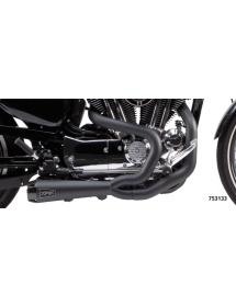 753129 POTS TWO BROTHERS RACING 2-EN-1 Finition noire céramique, Silencieux génération II - Pour 2014 au présent Sportster Ec...