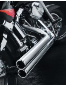 DRAG PIPES SUPERTRAPP MEAN MOTHER longs chromés, pour 1985-2009 FLT, FLTR, FLH et FLHR 733069 Echappements & Silencieux
