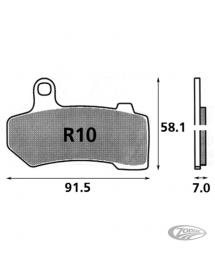 Plaquettes de frein arrière SBS pour FLH 2008 au présent et VRSC 2006-17 231664 Catalogue