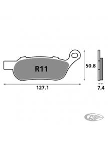 Plaquettes de frein arrière SBS pour Softail et Dyna 2008-2017 711652 Catalogue Zodiac - Pièces et accessoires pour Harley-Da...