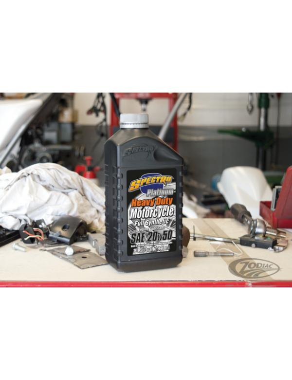 Huile Spectro Heavy Duty Platinum 100% synthèse pour Harley Davidson et moteur américains V-Twin 745063 Outillage
