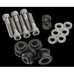 Kits de fixation de sissy-bars et porte-bagages noir, pour 2018 FLDE, FLHC & FLHCS, FLSB, FLSL, FXBB, FXFB & FXFBS et FXLR 08...