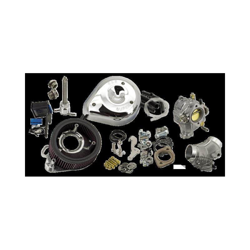 Kit de conversion d'injection en carburateur S&S pour 2007 au présent Sportster 795012 Catalogue Zodiac - Pièces et accessoir...