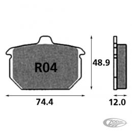 Plaquettes de frein arrière SBS pour Softail Sportster FXR 1982 au début 1987 231272 Catalogue Zodiac - Pièces et accessoires...