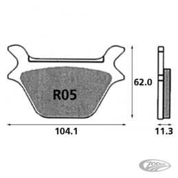 Plaquettes de frein arrière SBS pour Softail, Sportster, Dyna, FXR fin 1987-1999 44209-87 231276 Catalogue