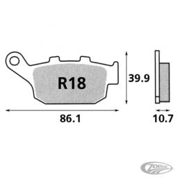 Plaquettes de frein arrière SBS pour Buell 1998-2010 touts modèles refroidis par air 231810 Catalogue Zodiac - Pièces et acce...