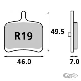 Plaquettes de frein arrière SBS pour Buell 2008-2010 1125R 711654 Catalogue Zodiac - Pièces et accessoires pour Harley-Davidson