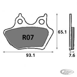 Plaquettes de frein arrière SBS pour XL 2000-2003 V Rod 2002-2005 Dyna Touring 2000-2007 Softail 2000-2005 236254 Catalogue Z...