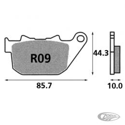 Plaquettes de frein arrière SBS pour Sportster 2004-13 XR1200, XR1200X 2008-2012 236069 Catalogue Zodiac - Pièces et accessoi...