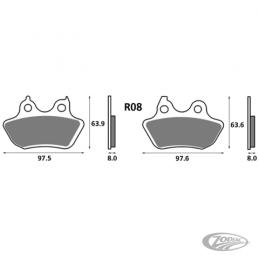 Plaquettes de frein arrière SBS pour Softail FXST, FXSTB, FXSTS, FLSTFSE 2006-2007, FLSTF, FLSTC 2007 711650 Catalogue Zodiac...