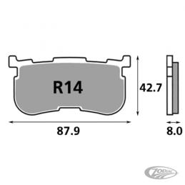 Plaquettes de frein arrière SBS pour pour Tri-Glide 2014 au présent 236416 Catalogue Zodiac - Pièces et accessoires pour Harl...