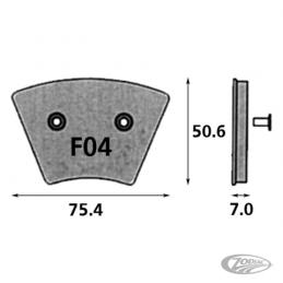 Plaquettes de frein avant SBS pour Sportster 1974-77 FX 1974-77 231255 Catalogue