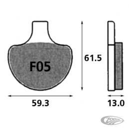 Plaquettes de frein avant SBS pour Sportster, Softail FL, FLH, FLT, FX, FXR 1984-99, Dyna 1991-1999, Springer 1988-2007 23127...