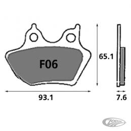 Plaquettes de frein avant SBS pour Sportster 2000-2003 V-Rod 2002-2005 Dyna 2000-2007 FL, FLH, FLT 2000-2007 Softail 2000-200...