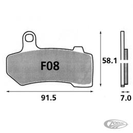Plaquettes de frein avant SBS pour 231663 Catalogue