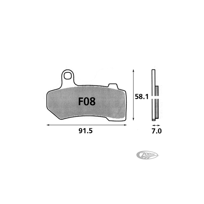 Plaquettes de frein avant SBS pour 231663 Catalogue Zodiac - Pièces et accessoires pour Harley-Davidson