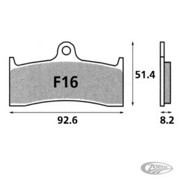 Plaquettes de frein avant SBS pour Buell 1988-2002 sauf XB 231821 Catalogue