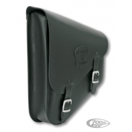 Sacoche Texas Leather pour bras oscillant de Softail M8 2018-2021 style étroite en cuir noir avec boucles mates 757042 Catalo...