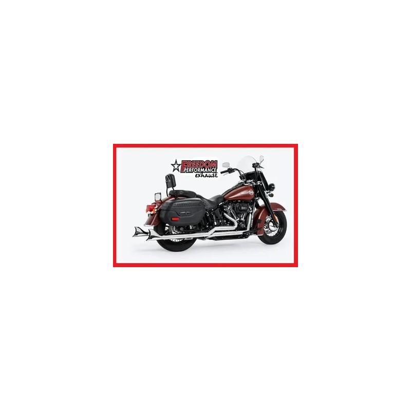 """Pots Freedom Performance Sharktail True Duals Chromés, 36"""" 737253 Catalogue Zodiac - Pièces et accessoires pour Harley-Davidson"""
