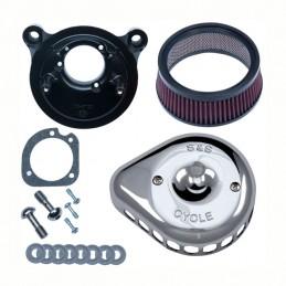 Kit filtre à air S&S Stealth avec couvercle chromé Mini Teardrop 782623 Catalogue Zodiac - Pièces et accessoires pour Harley-...