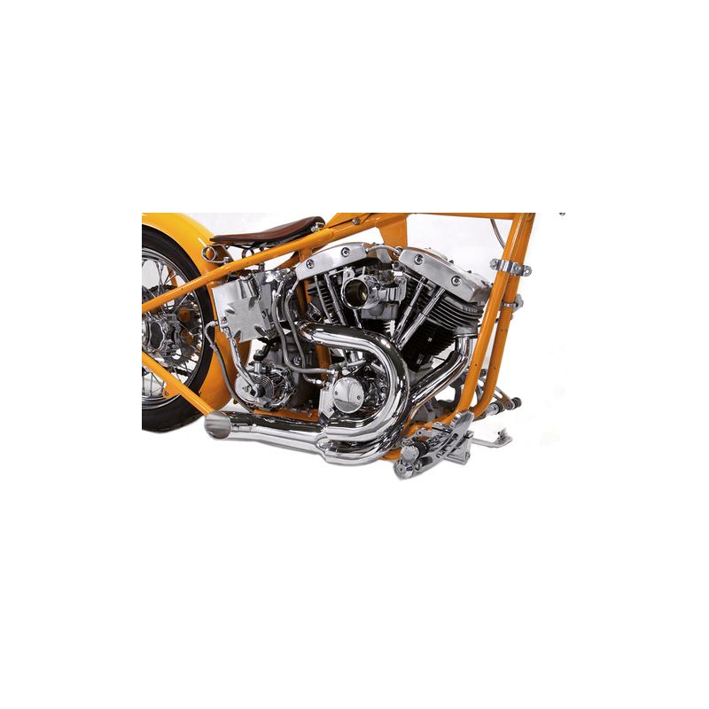 Echappement 2 en 1 chromé 1970-1984 Shovelhead Big Twin 789411 Catalogue Zodiac - Pièces et accessoires pour Harley-Davidson