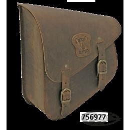 SACOCHE TEXAS LEATHER POUR BRAS OSCILLANT DE SOFTAIL Ranger marron avec boucles laiton 756977 Catalogue Zodiac - Pièces et ac...