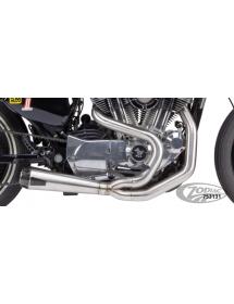 POTS TWO BROTHERS RACING 2-EN-1 Finition brute, Silencieux Competition-S avec sortie carbone - Pour 2004 à 2013 XL Sportster...