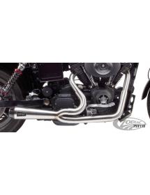 POTS TWO BROTHERS RACING 2-EN-1 finition brute, silencieux Competition-S avec sortie carbone pour 1999 à 2005 Dyna 753115 Ec...
