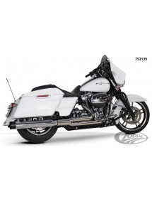 POT D'ÉCHAPPEMENT TWO BROTHERS RACING 2-EN-1 Finition chromée avec sortie alu polie pour 2017 au présent Harley Touring 75313...