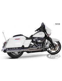 POT D'ÉCHAPPEMENT TWO BROTHERS RACING 2-EN-1 Finition chromée avec sortie alu noire pour 2017 au présent Harley Touring 75313...