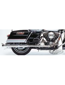 Jeu de silencieux d'échappement Supertrapp chromés Fishtail pour Harley Touring FLHS-FLHT-FLT 1995-2016 233158 Catalogue Zodi...