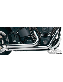733065 DRAG PIPES SUPERTRAPP MEAN MOTHER courts chromés pour 1984-2011 Evo & Twin Cam Softail, sauf Rocker Echappements & Sil...