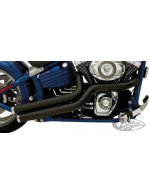 ÉCHAPPEMENT SUPERTRAPP 2-EN-2 MEAN MOTHERS SIDE SWIPES POUR SOFTAIL ROCKER Finition noire céramique 733164 Catalogue Zodiac -...