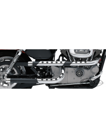 "ÉCHAPPEMENT PAUL YAFFE ""X-PIPES"" DRAG PIPES PAR SUPERTRAPP NOIRS Pour Sportster modèles 2004-2013 733162 Catalogue Zodiac - P..."