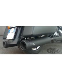 """POTS MCJ REGLABLES HOMOLOGUES noirs Edition 120 (4.724"""" 120mm de diamètre) sorties à bandes pour 1995-2016 Touring 749923 Ec..."""